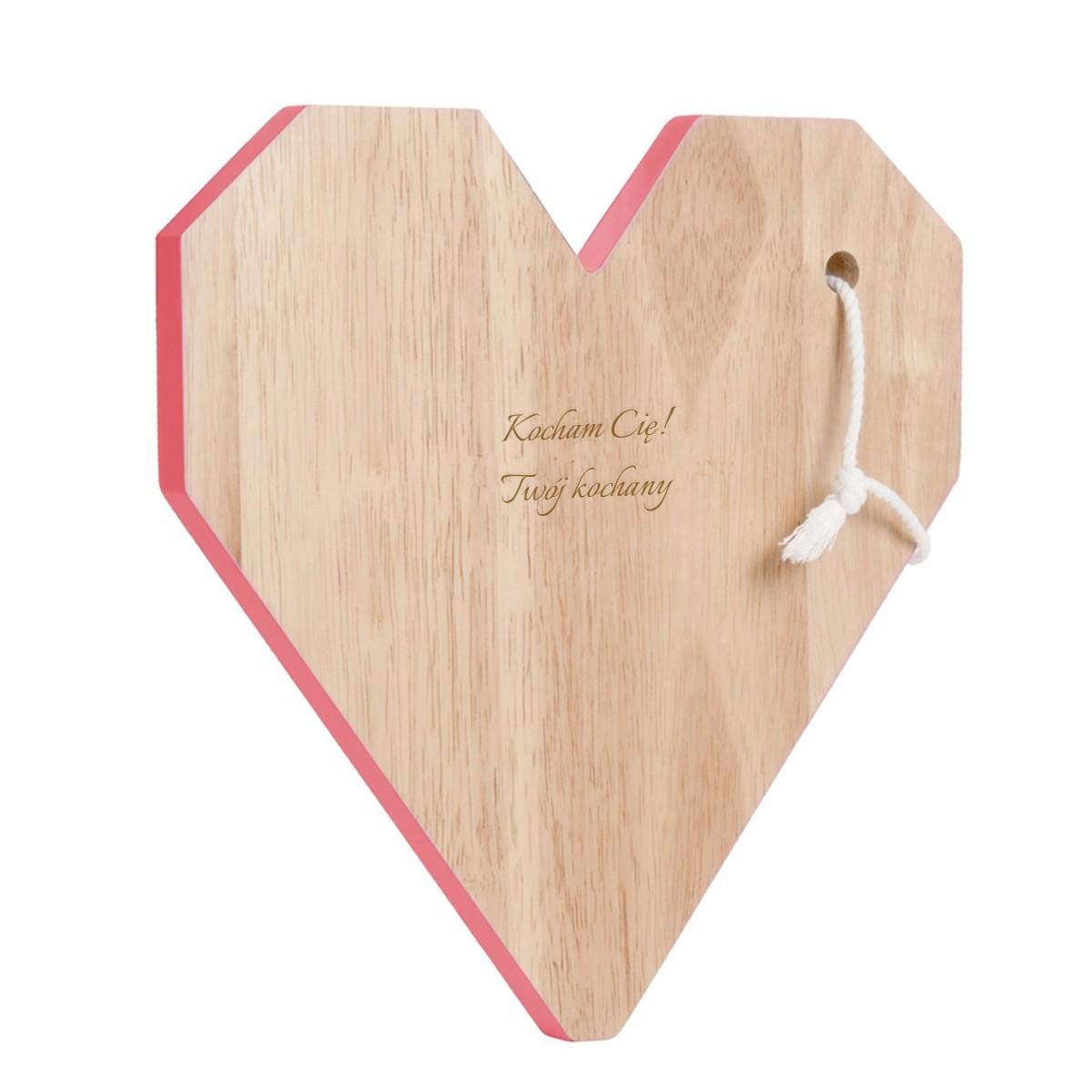 Deska do krojenia - Serce z Grawerem