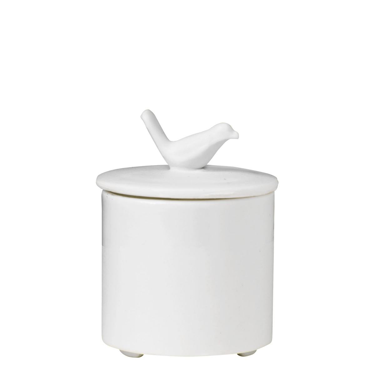 Mały, porcelanowy pojemnik na drobiazgi