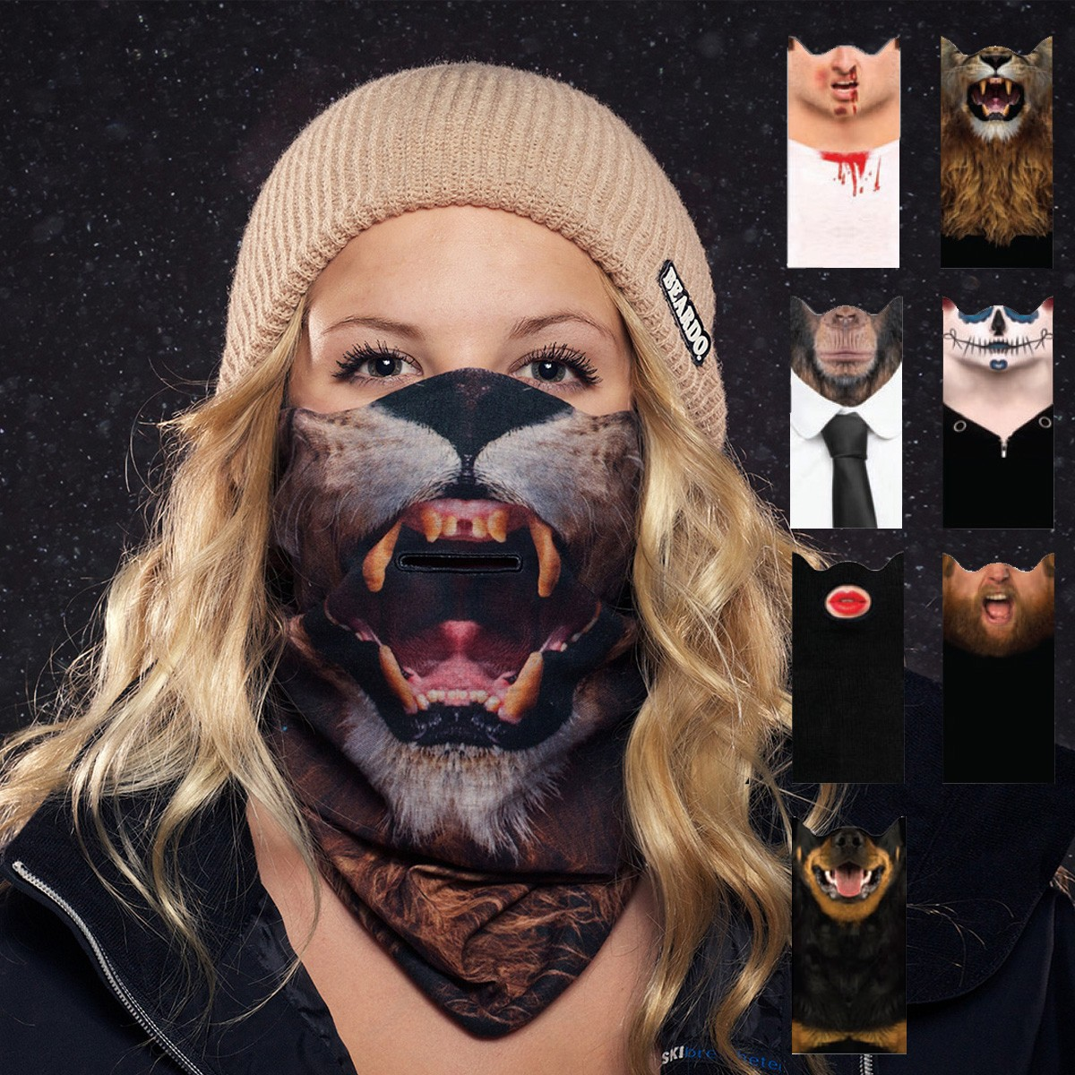 Maska narciarska ze zdjeciem jakości HD
