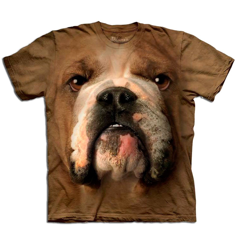 T-shirt z twarzą buldoga - nadruk 3D
