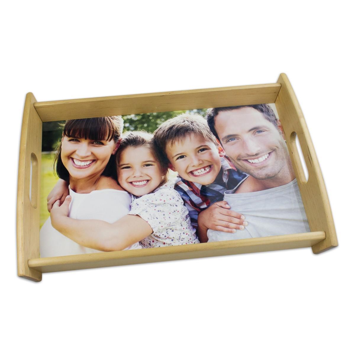 Drewniana taca ze zdjęciem