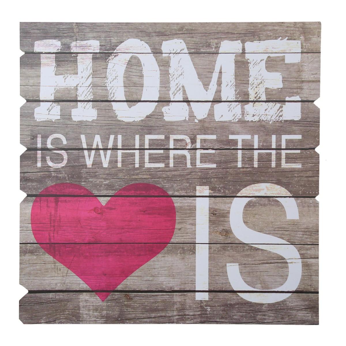 """Drewniany obrazek """"Home..."""""""