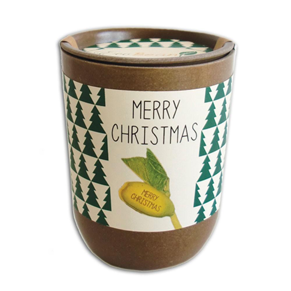 Fasola ze świątecznymi życzeniami