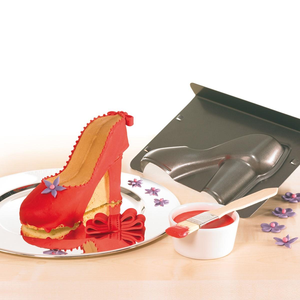 Forma do pieczenia w kształcie buta na wysokim obcasie