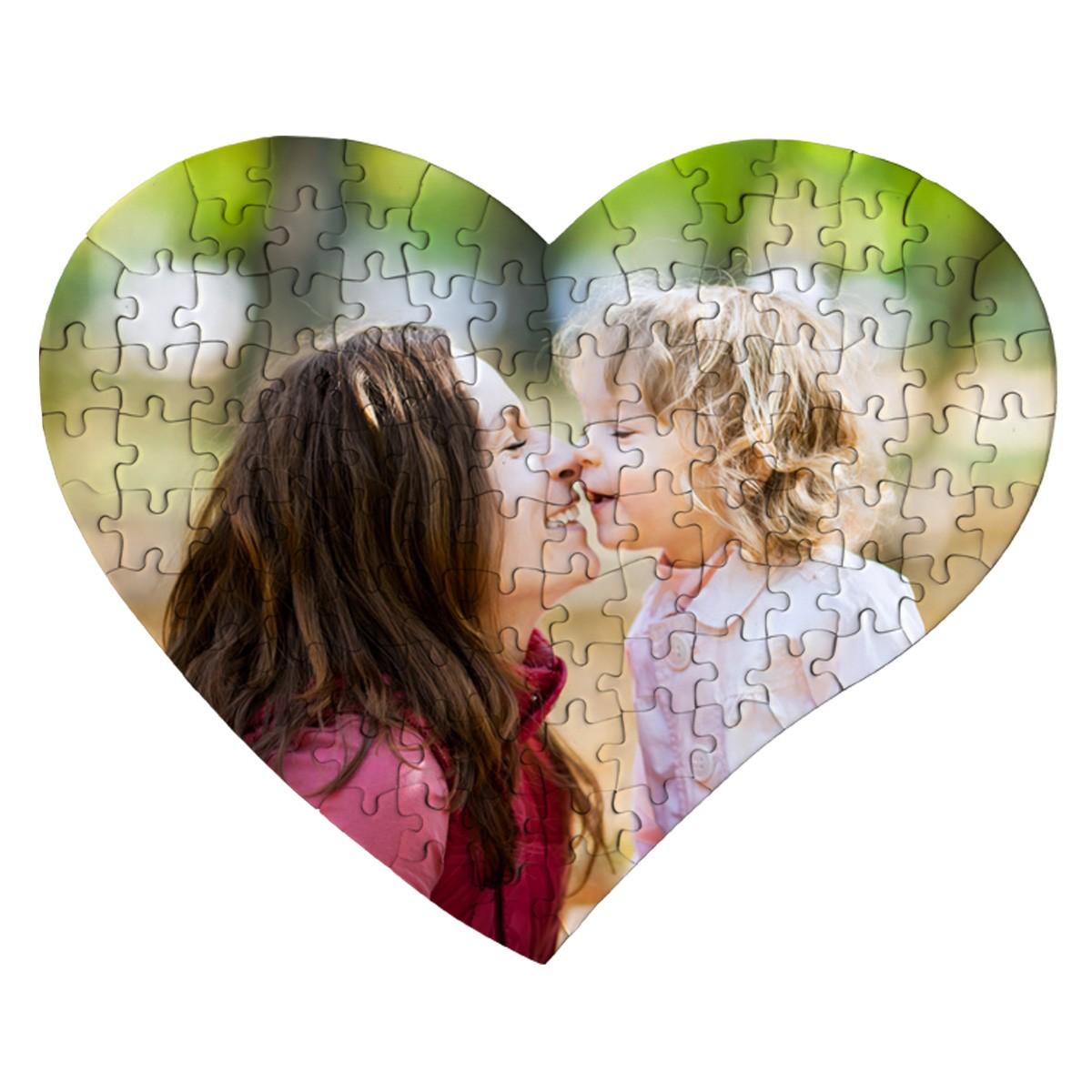 Fotopuzzle w kształcie serca