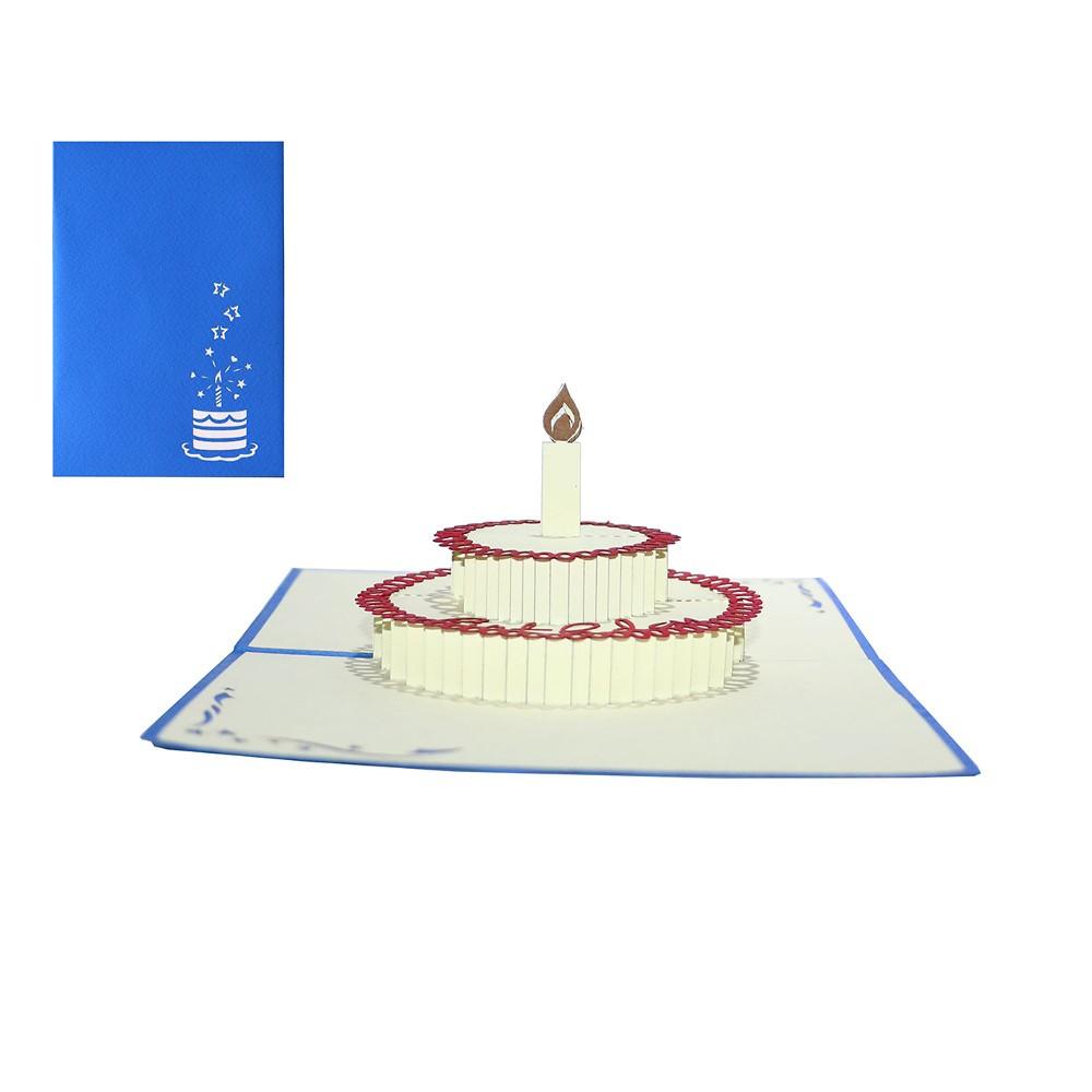 Kartka 3D z tortem