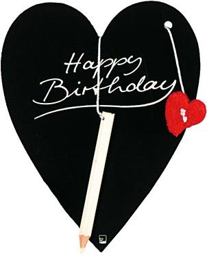 Kartka urodzinowa z sercem