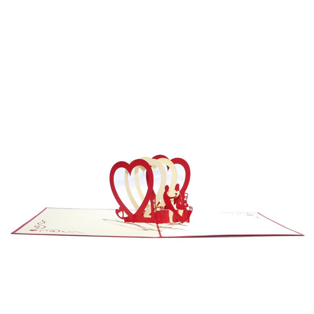 Kartka Walentynkowa 3D