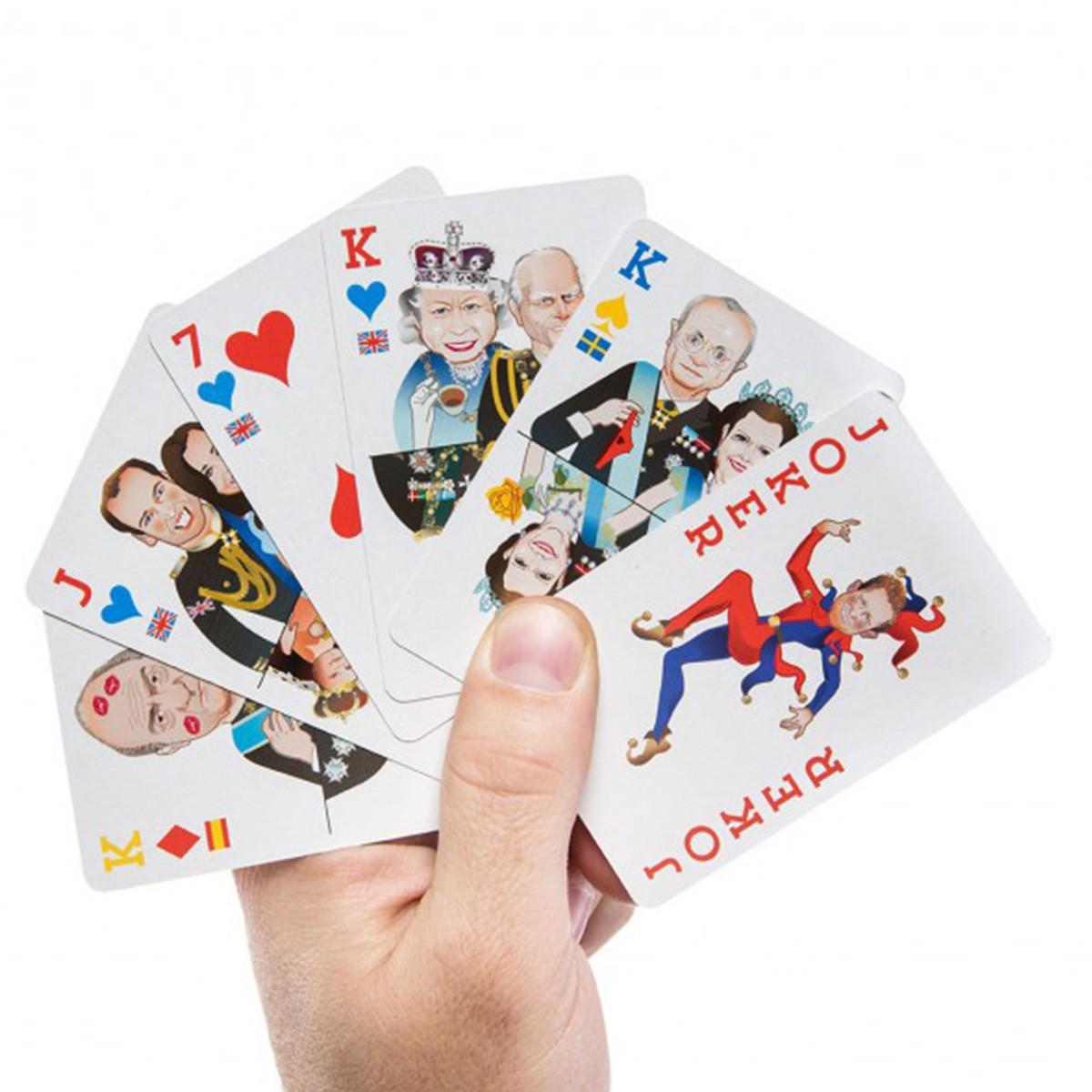 Karty do gry rodzina królewska
