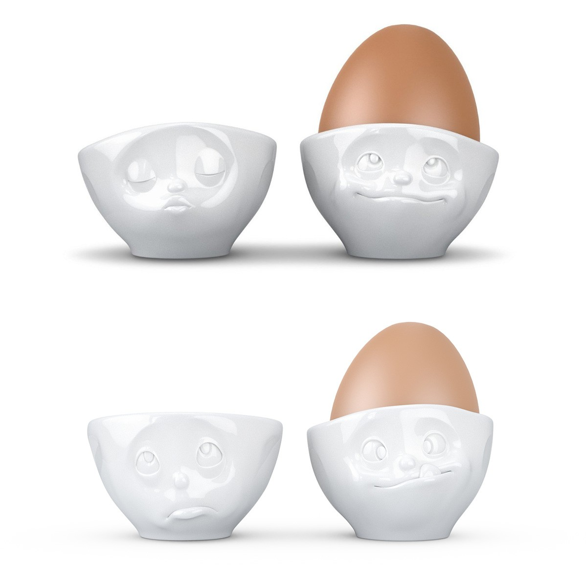 Kieliszki do jajek z buźką