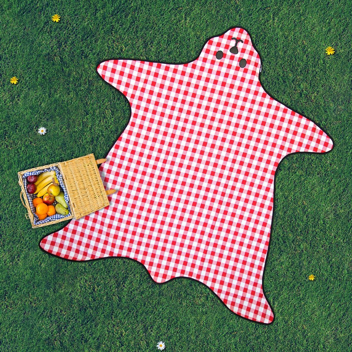 Koc piknikowy w kształcie niedźwiedzia