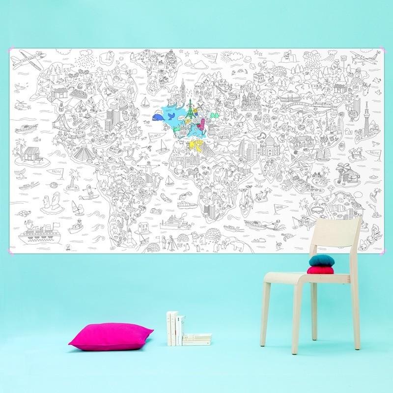 Kolorowanka XXL - Mapa
