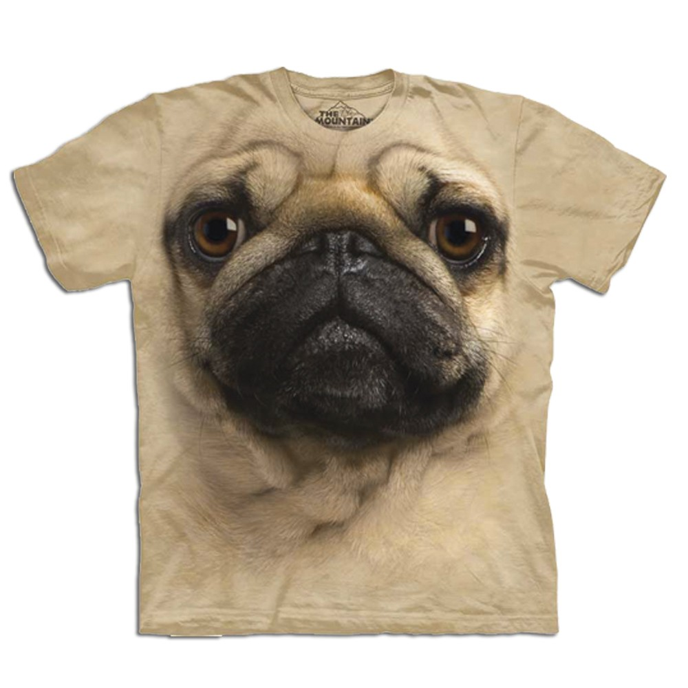Koszulka z mopsem 3D