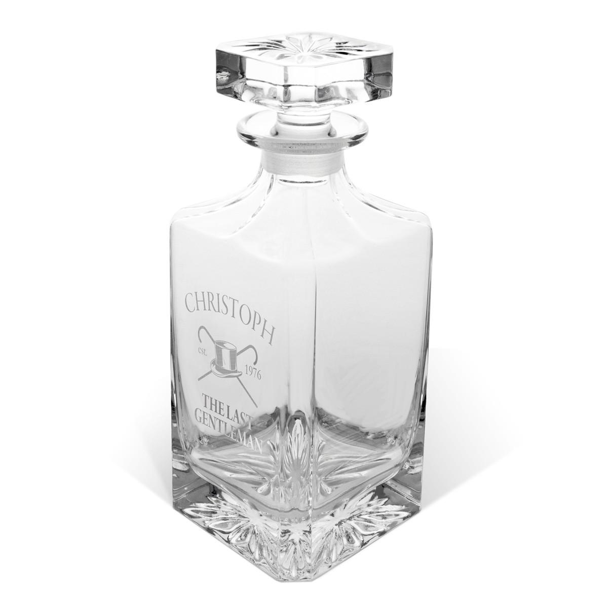 Kryształowa karafka na whisky z grawerem