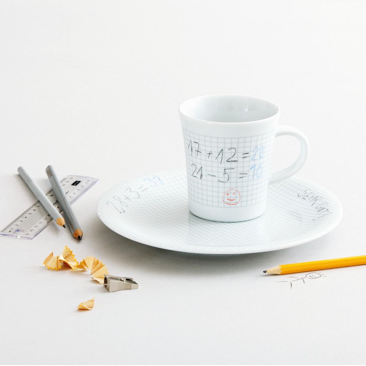 Kubek i talerz do rysowania