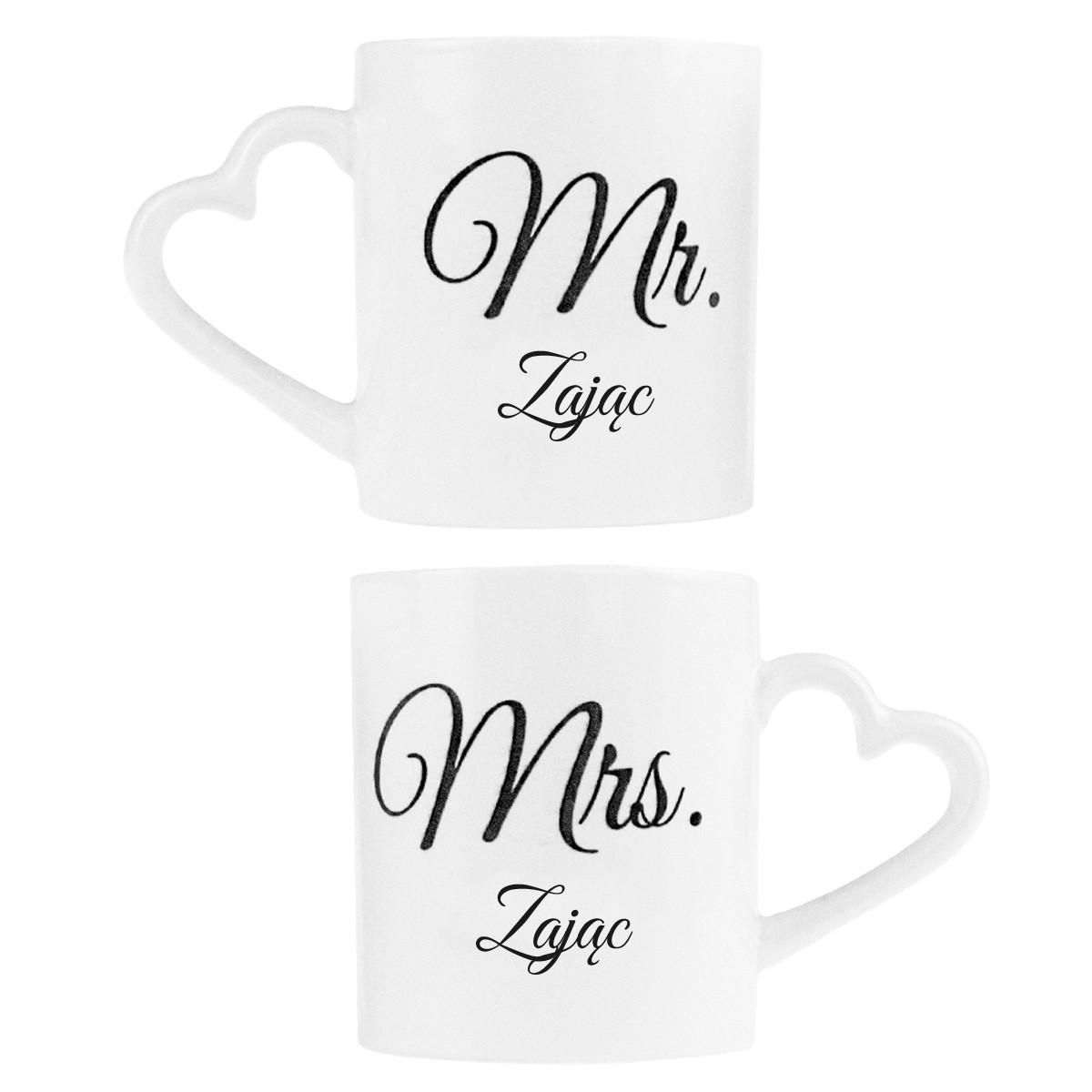 Romantische Partnertassen Mr & Mrs - DK
