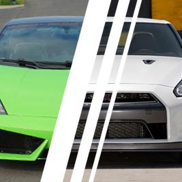 Lamborghini Gallardo vs. Nissan GTR - Tor Poznań