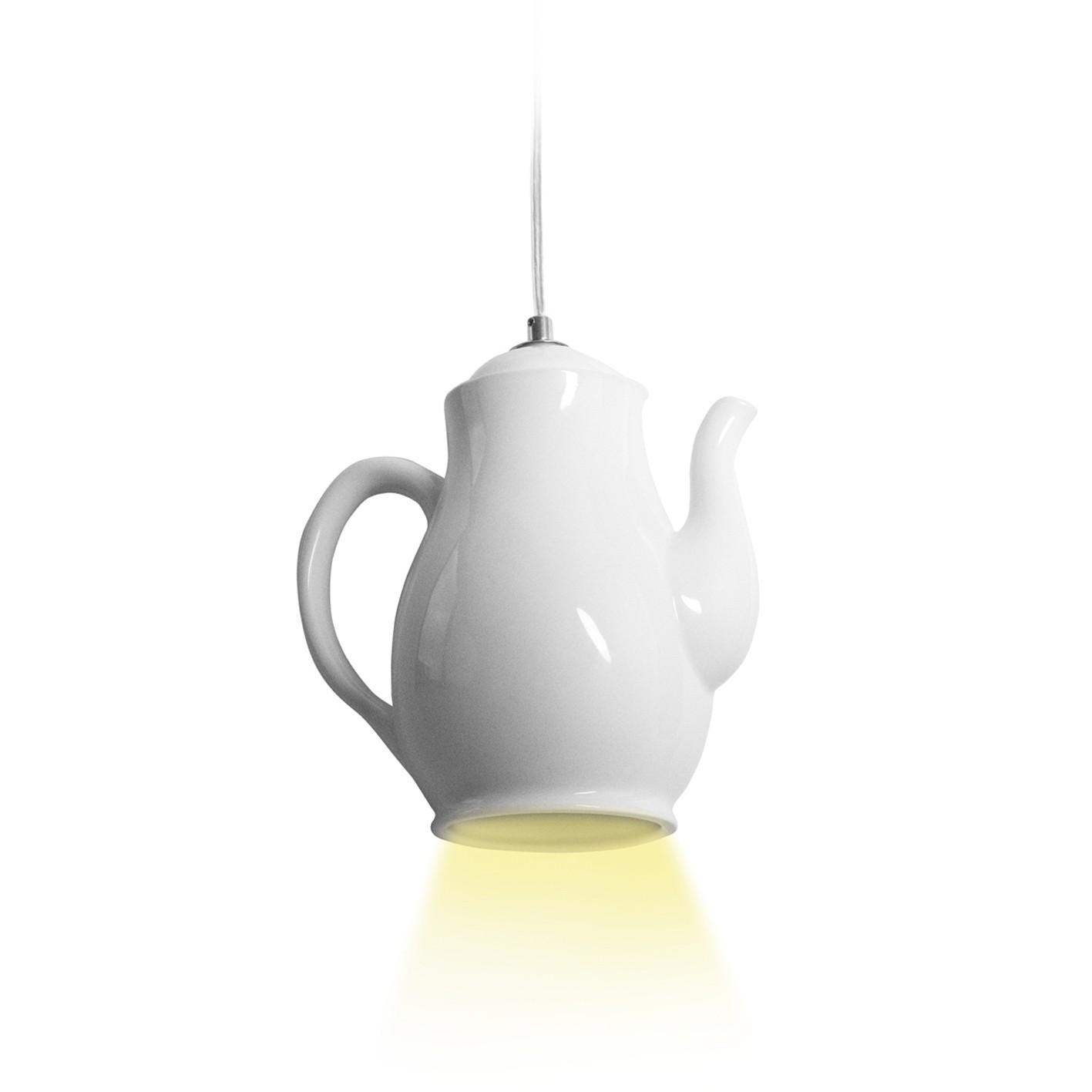 Lampa sufitowa z kloszem dzbanek