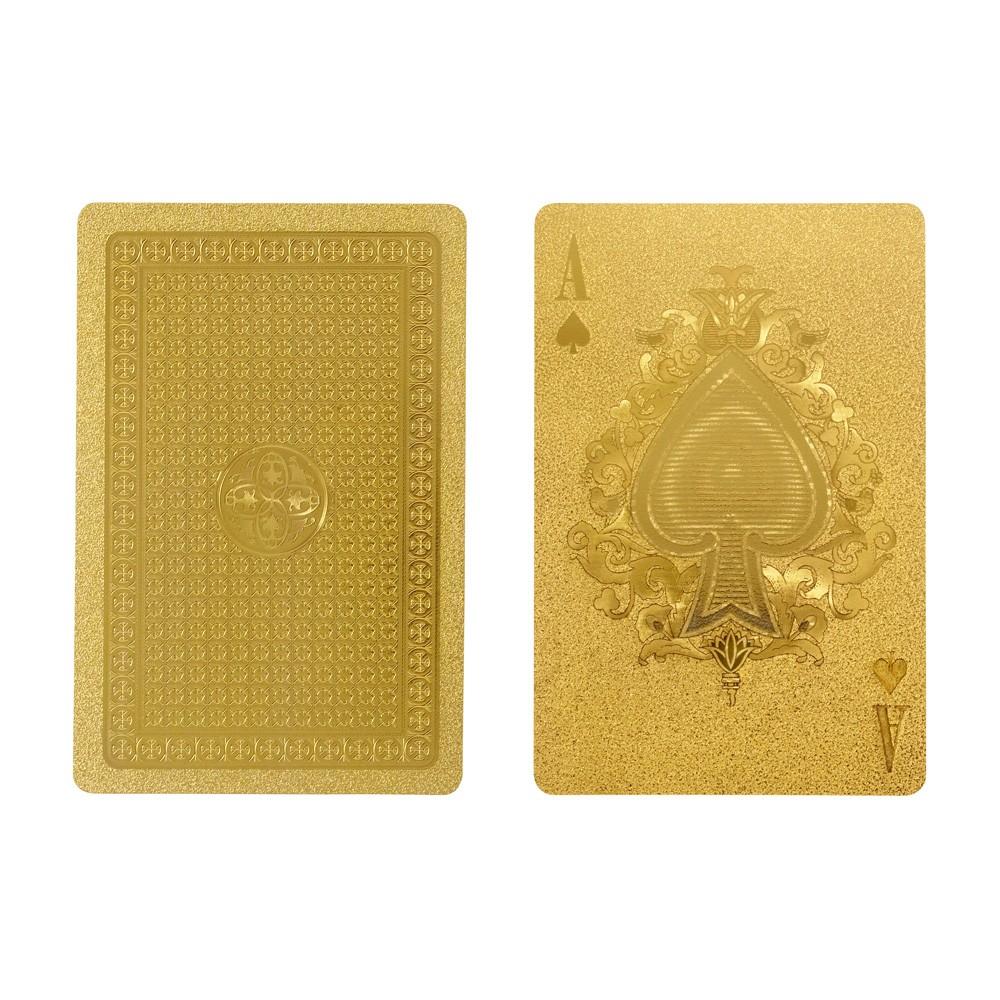 Luksusowe złote karty do gry