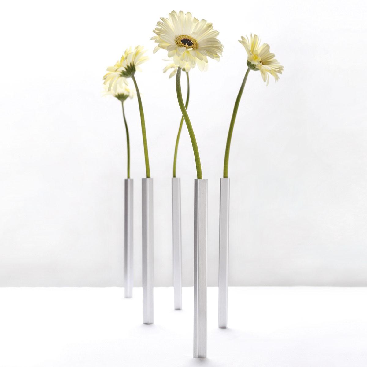 Magnetyczne wazoniki do kwiatów (srebrne)