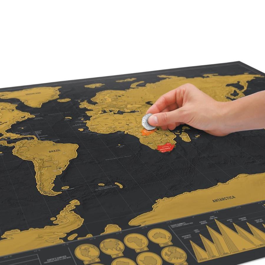 Mapa świata - Zdrapka Deluxe