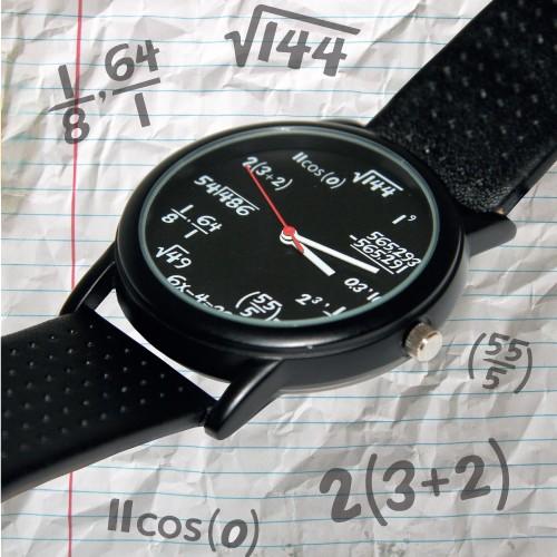 Matematyczny zegarek na rękę