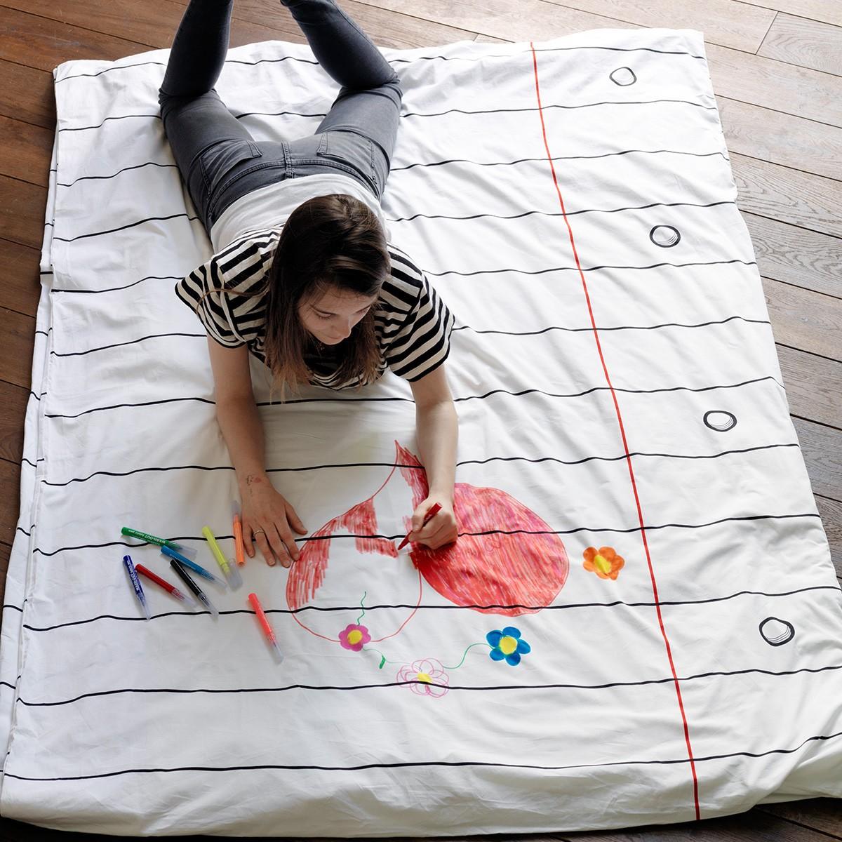 Narzuta na łóżko do malowania