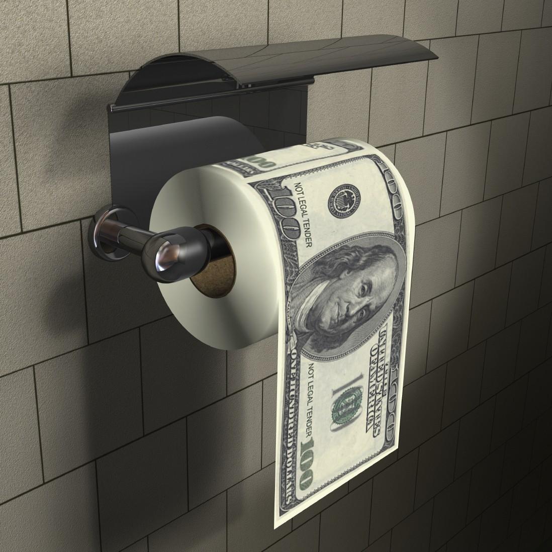Papier toaletowy w studolarówki