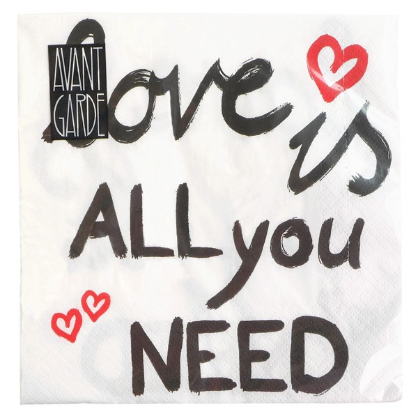 "Papierowe serwetki ""Love is all you need"""