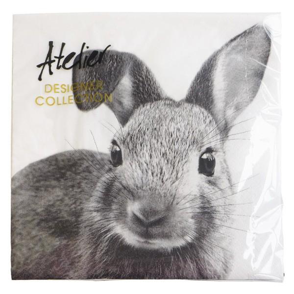 Papierowe serwetki z króliczkiem