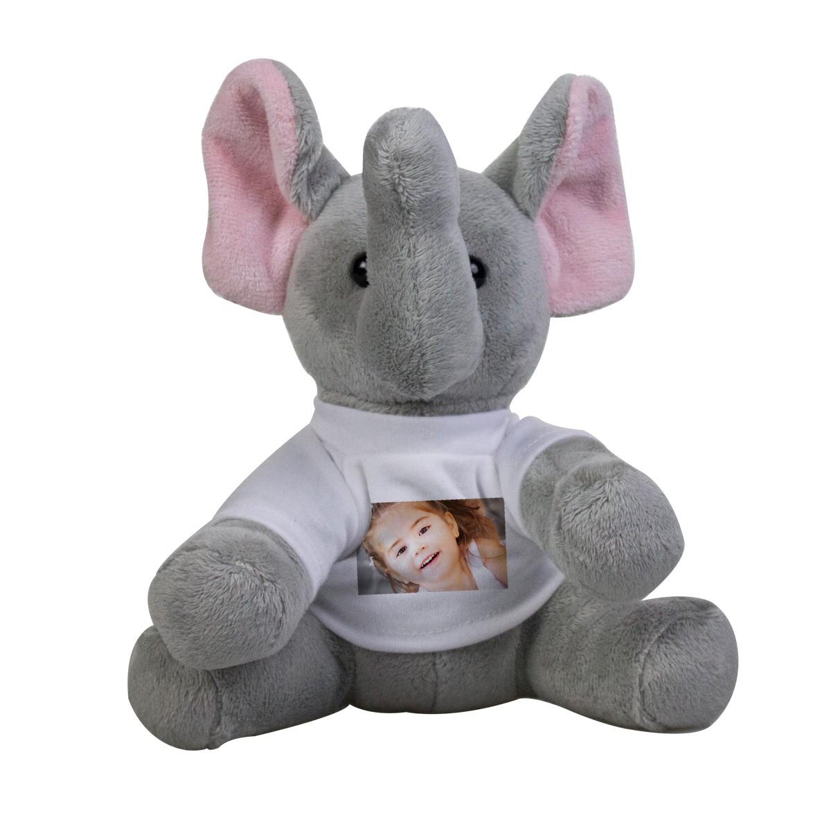 Pluszowy słonik ze zdjęciem