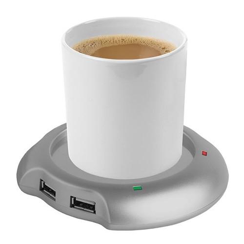 Podgrzewacz kubków i USB w jednym