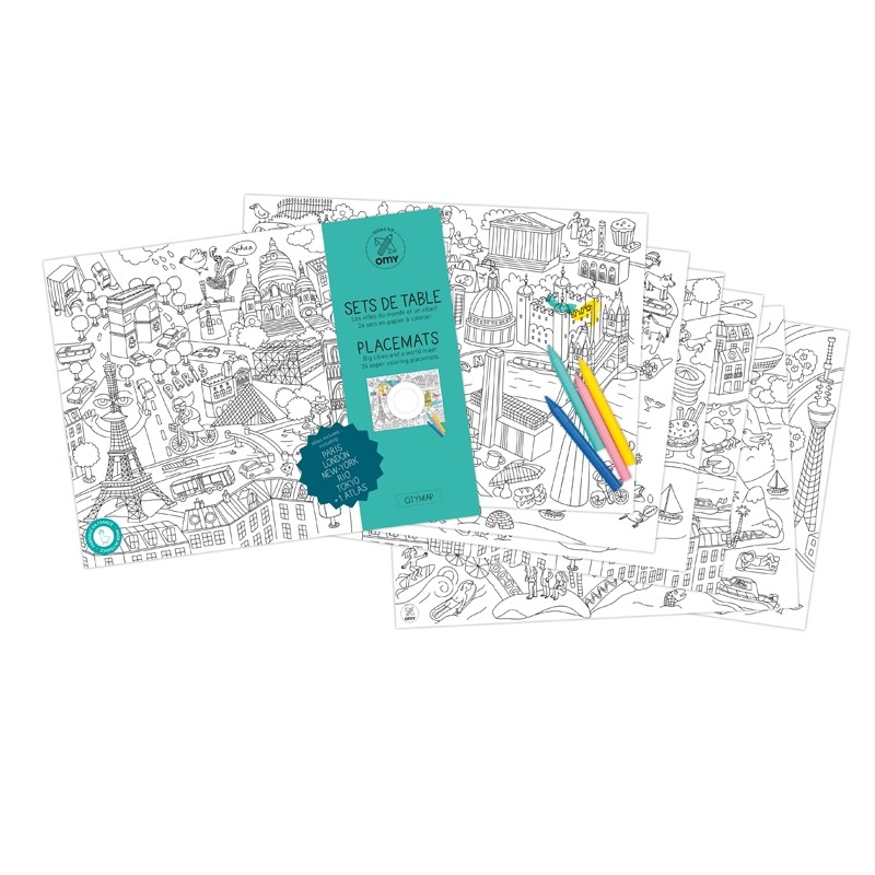 """Podkładki do kolorowania """"City map"""""""