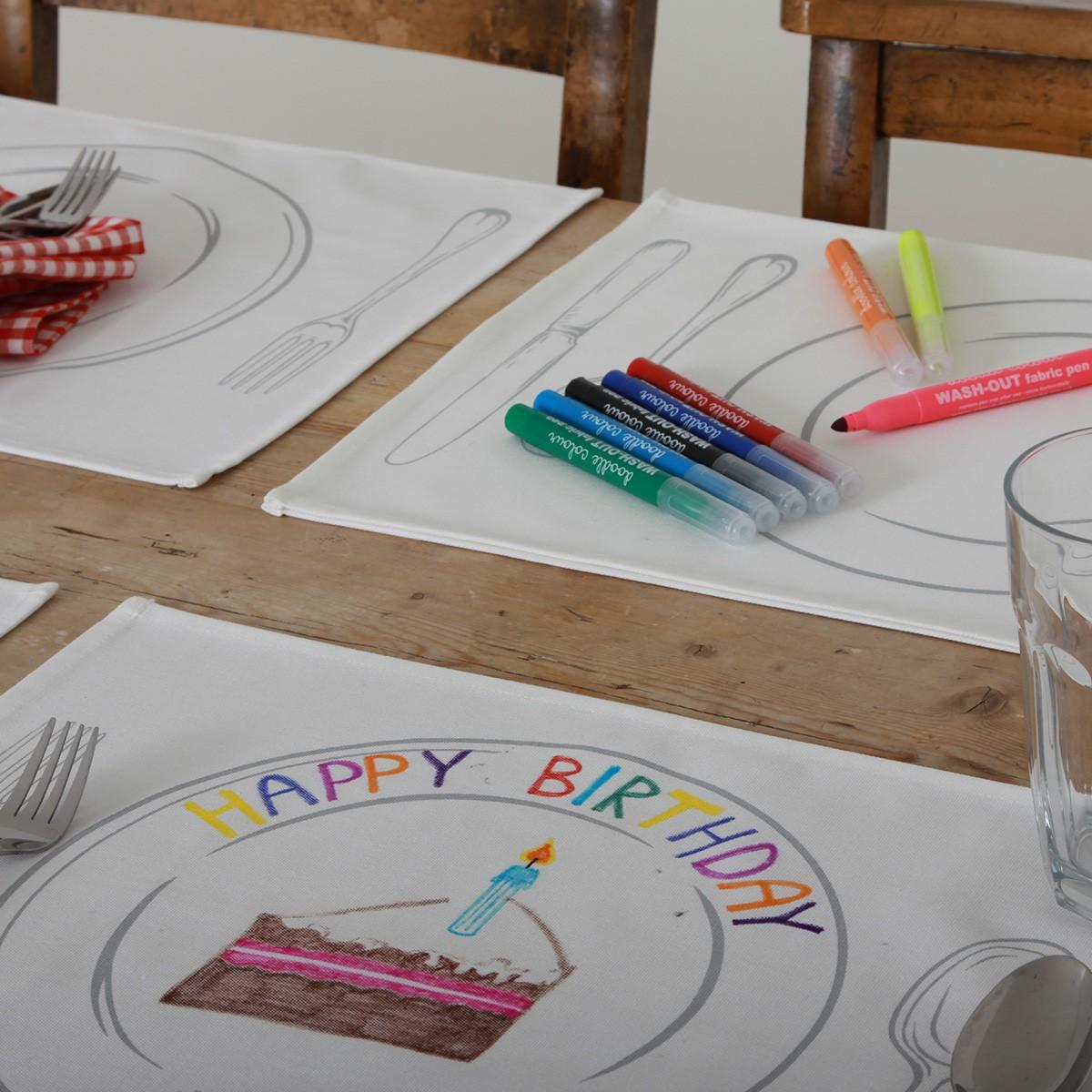 Podkładki na stół do malowania