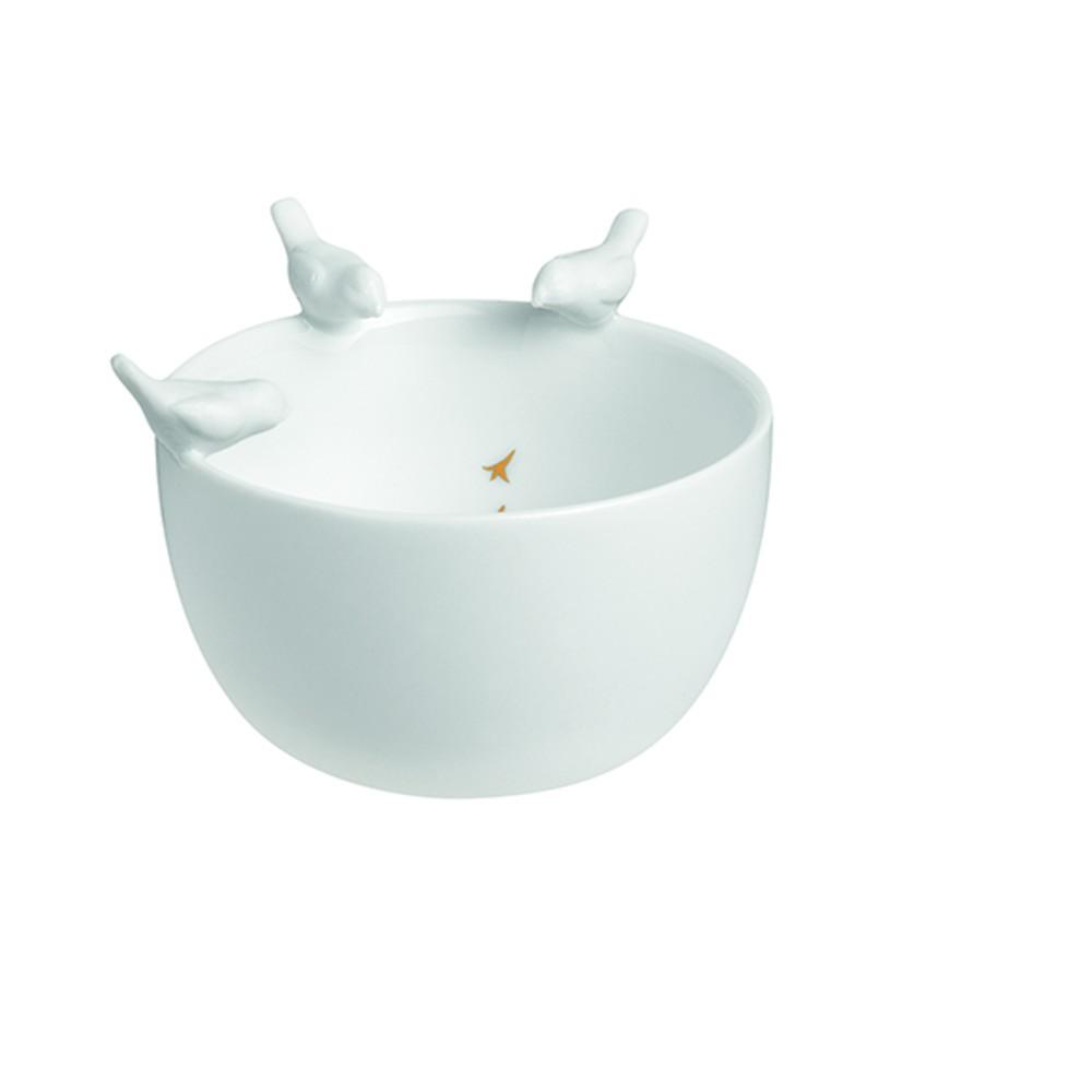Porcelanowa miska śniadaniowa z ptakami