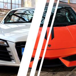 Lamborghini Gallardo vs. Audi R8 V8  - Tor Bednary