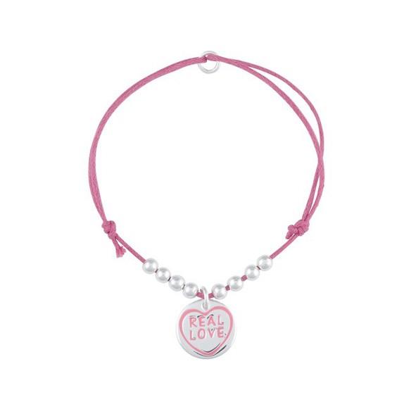 Real Love - różowa bransoletka
