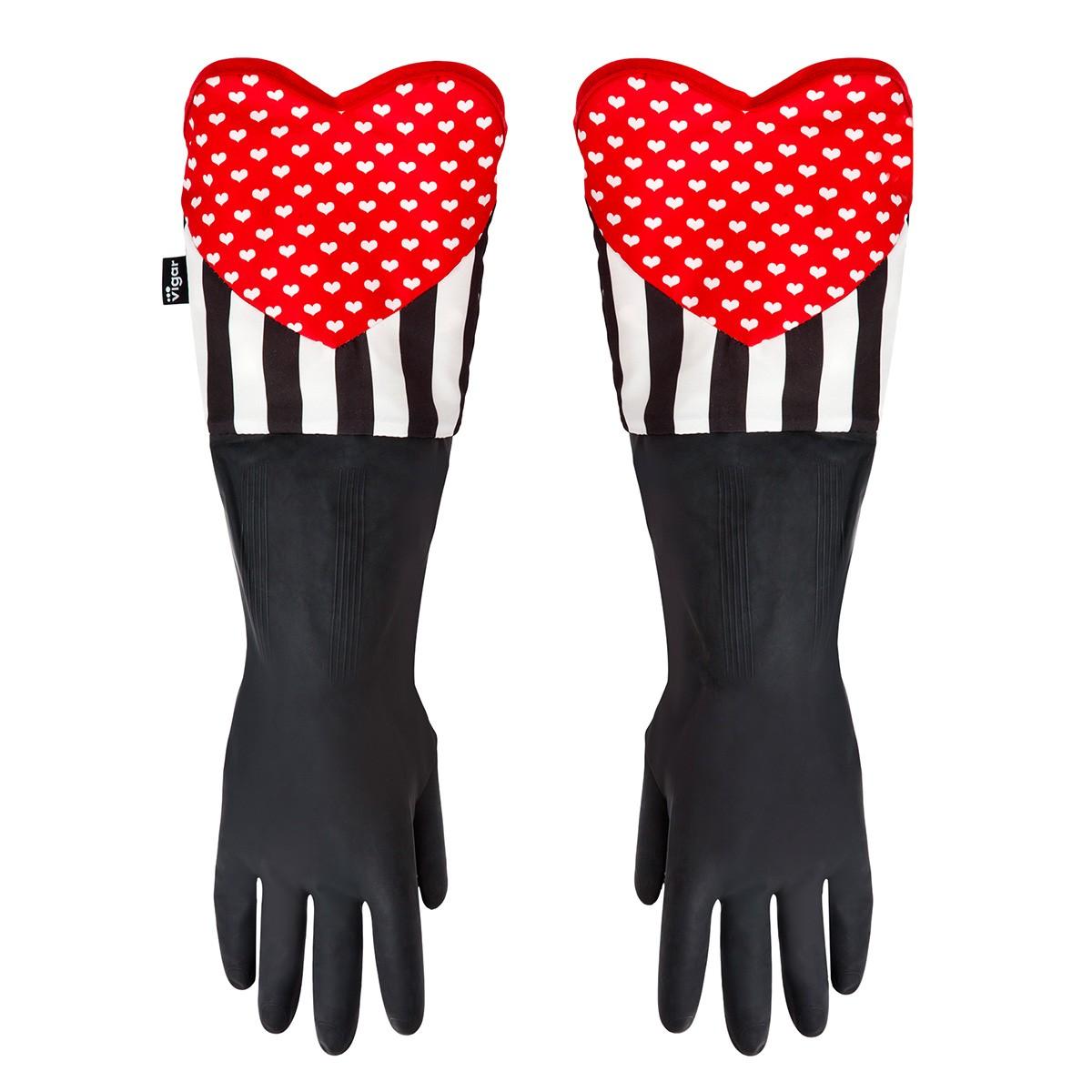 Rękawice kuchenne z sercem