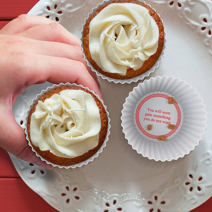 Silikonowe foremki na muffinki z wróżbą