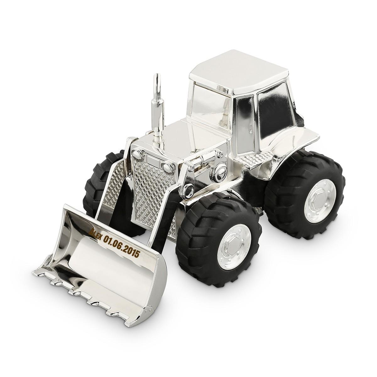 Skarbonka - Traktor z grawerem