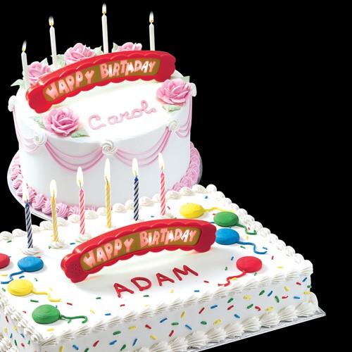 Świecąca pozytywka na tort Happy Birthday