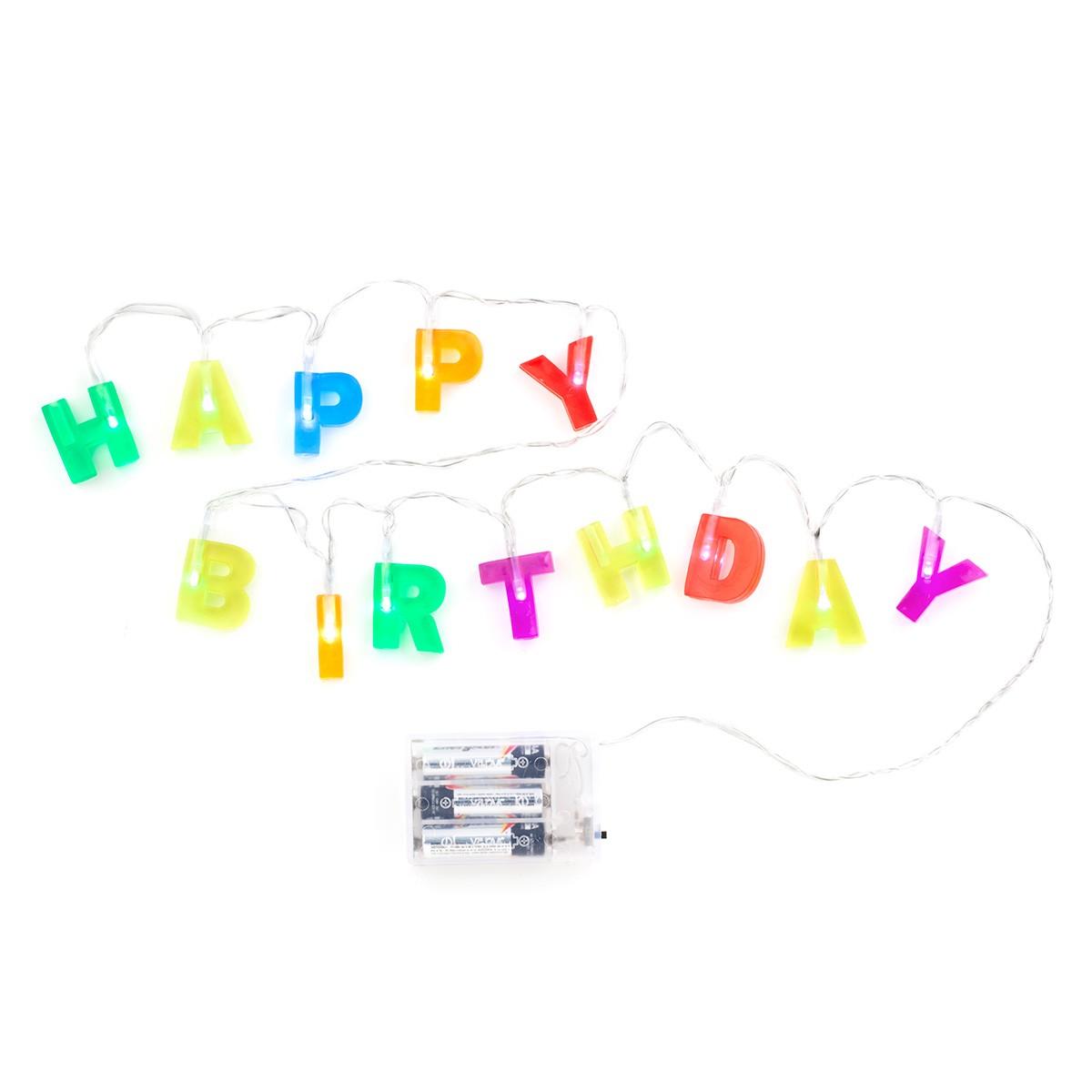 """Świecące Litery """"Happy Birthday"""""""
