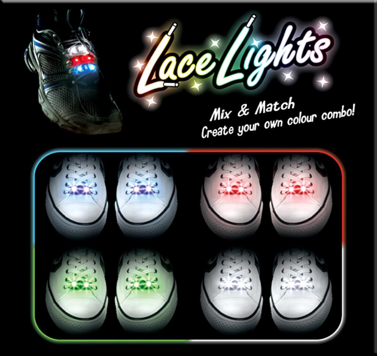 Świecące sznurówki LED
