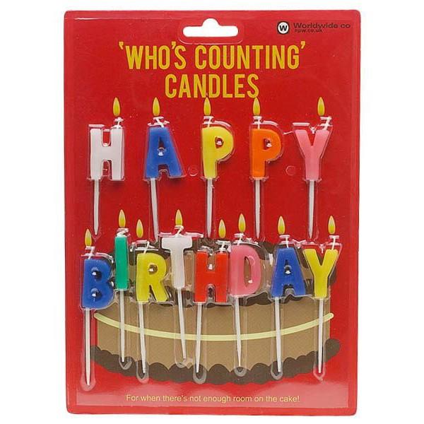 """Świeczki urodzinowe """"Happy Birthday"""""""