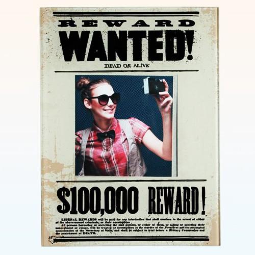 "Szklana ramka ""Wanted"""