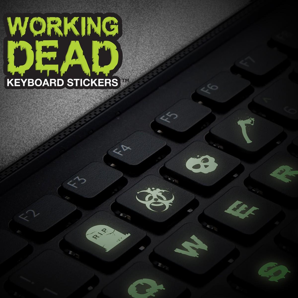 """""""The Working dead"""" – świecące naklejki na klawiaturę"""