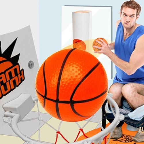 Toaletowa koszykówka - sport przede wszystkim!