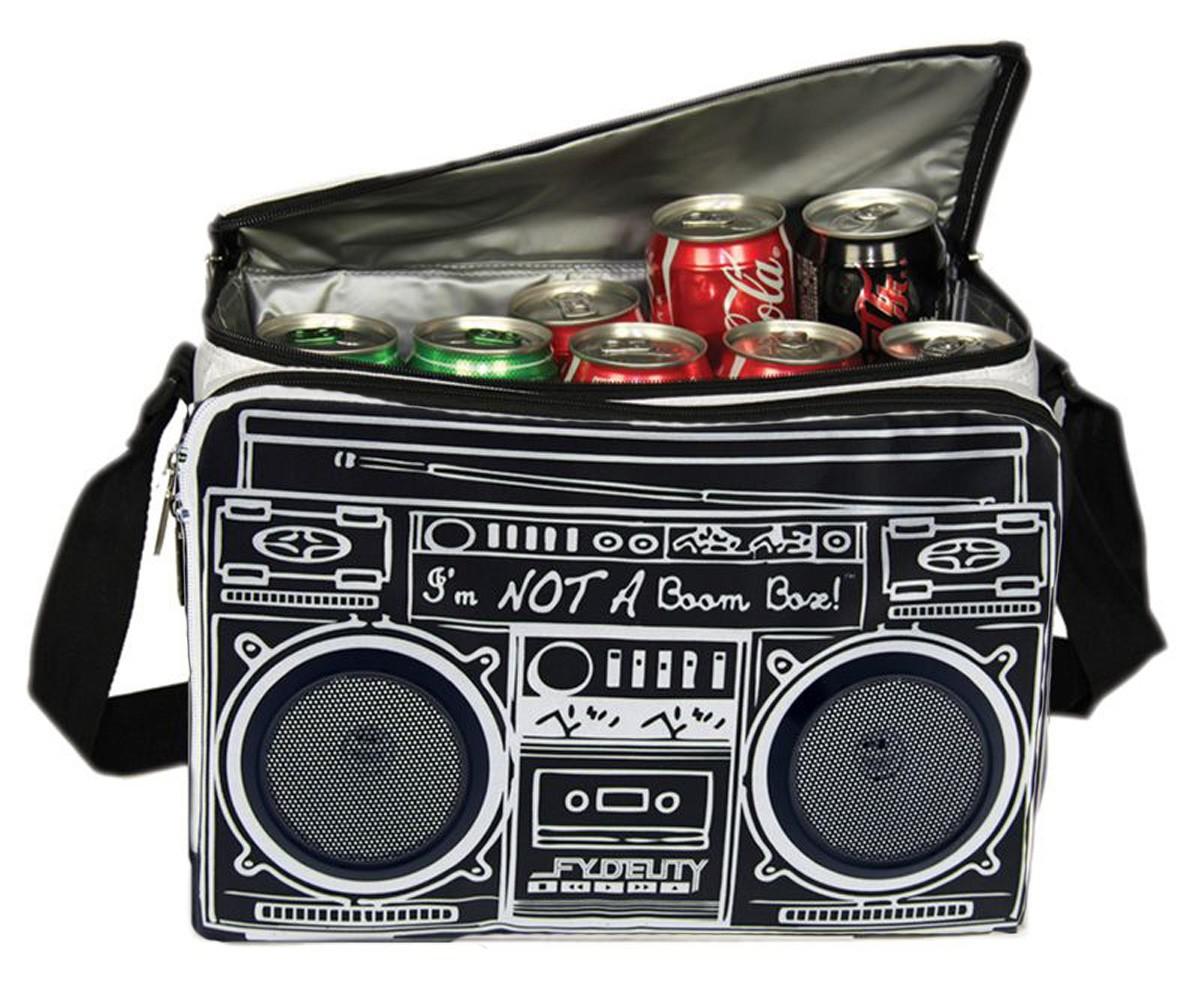 """Torba """"Boombox"""" z głośnikami i funkcją chłodzenia"""