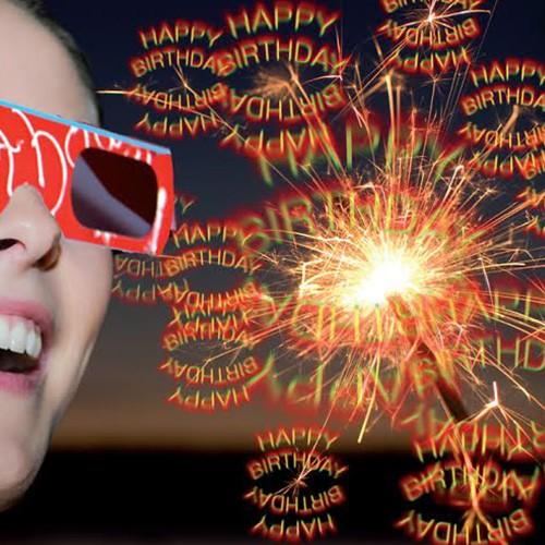 Urodzinowe okulary 3D