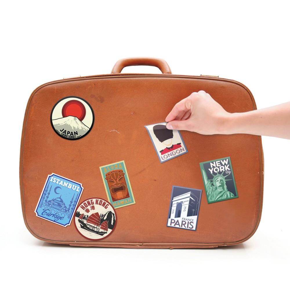 Vintage-Kofferaufkleber